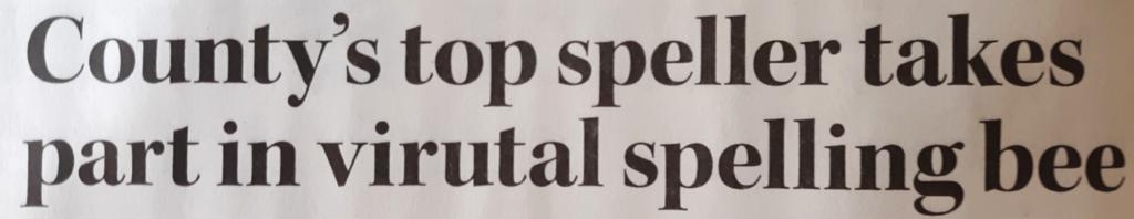 A headline on a newspaper